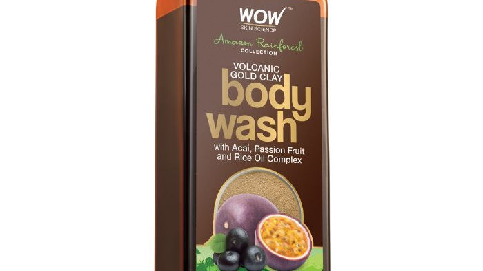 WOW Skin Science Rainforest Collection - Volcanic Gold Clay Shower Gel  (250 ml)