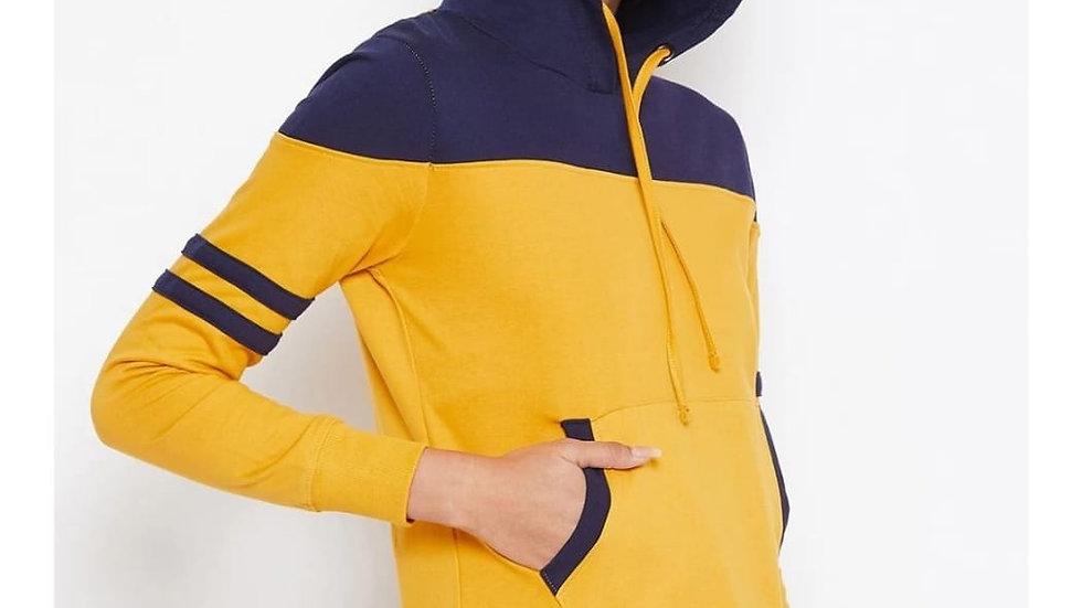 Fashtantic Fleece Full Sleeve Hooded Neck Printed Women Sweatshirt
