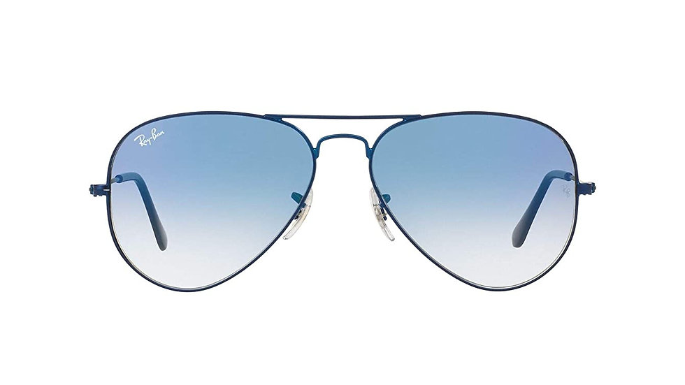 Ray-Ban Anti-Reflective Aviator Unisex Sunglasses (0RB3025I|51 mm|Blue)