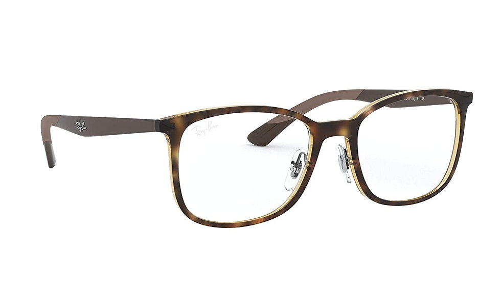 Ray-Ban Square Unisex Optical Frames (0RX7142|52 mm|Transparent)