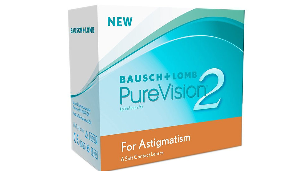 PV2 TORIC Bausch & Lomb Purevision 2 Toric - Monthly Contact Lens(6 LENS PACK)