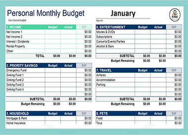 Monthly Budget Template - Website image.