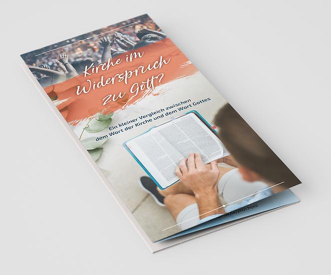 Kirche im Widerspruch zu Gott? (50er Pack)