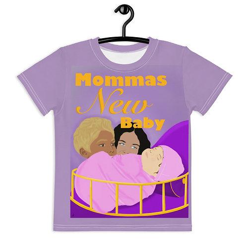 Momma's New Baby - Kids crew neck t-shirt