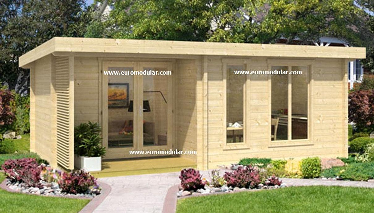 Casas de madeira euromodular bungalows prefabricados for Casas para jardin baratas