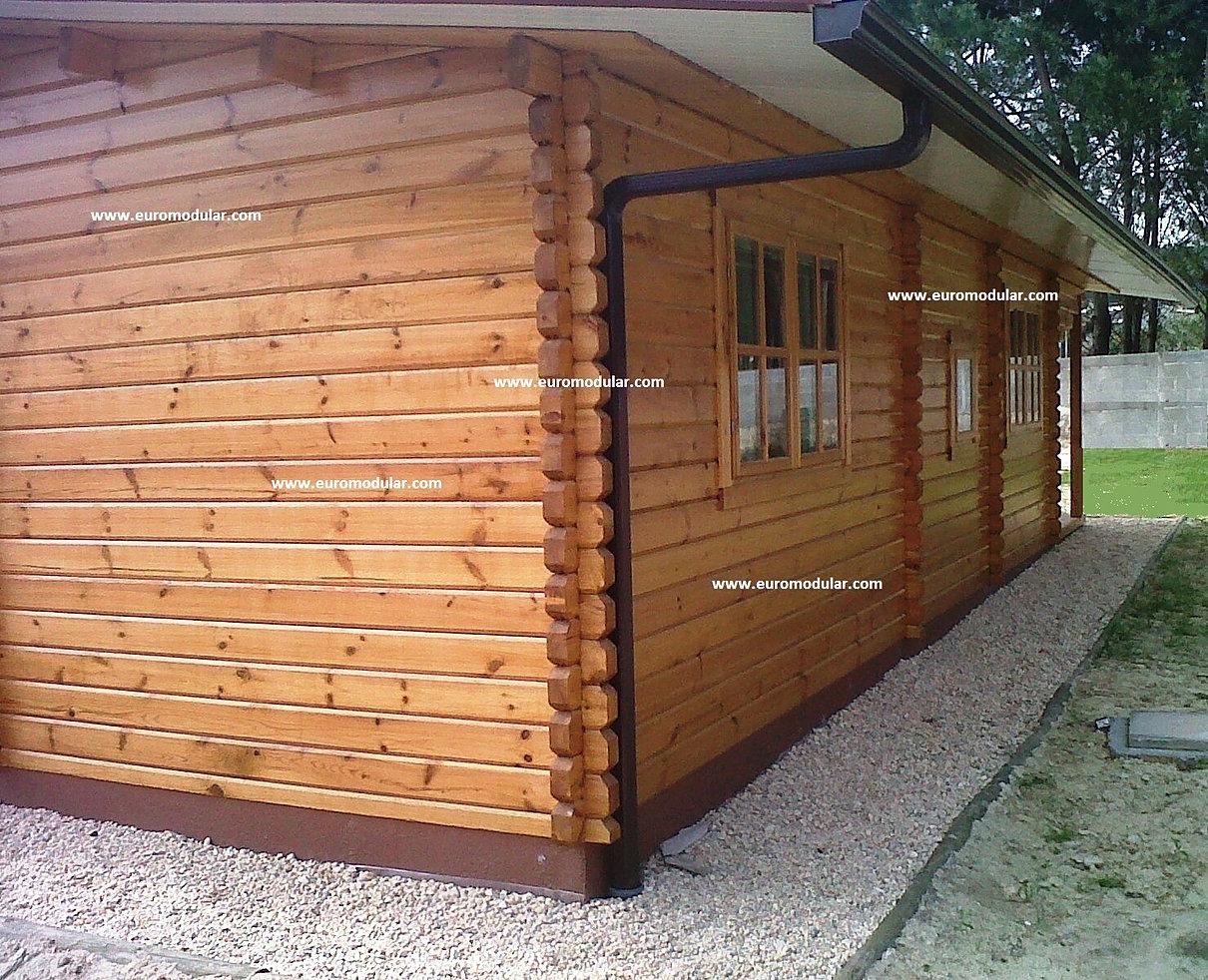 Casas de madeira euromodular bungalows prefabricados for Casetas economicas