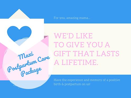 Gift Voucher - Postpartum Maxi Package