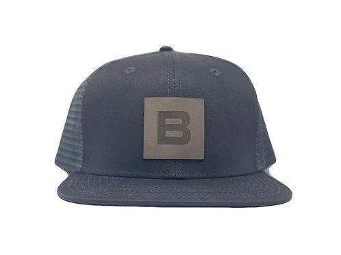 Leather B - Shadow Black Mesh