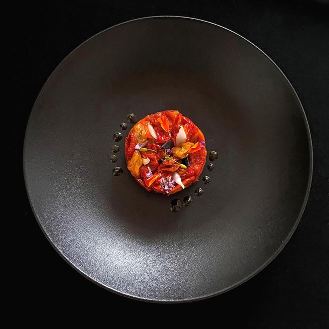 Tartelette aux tomates confites