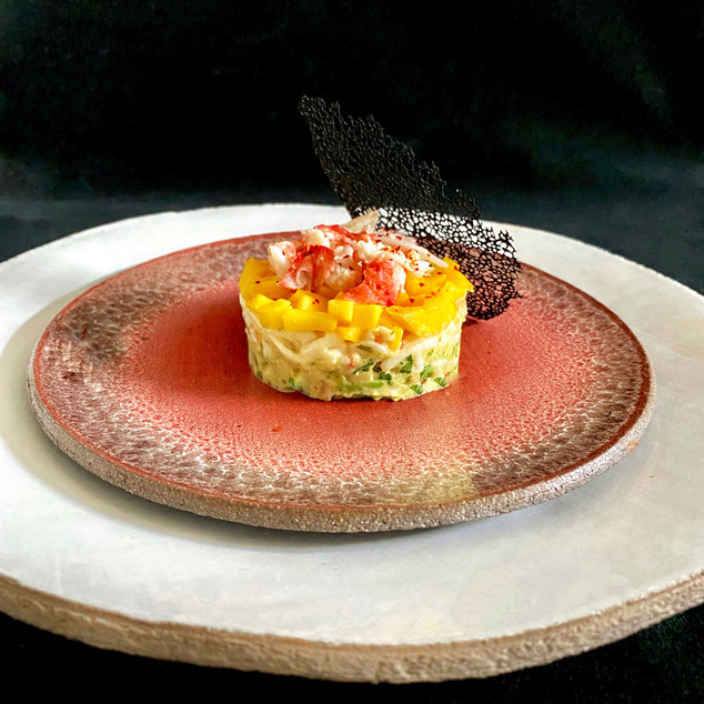 Timbale de crabe Royal aux agrumes, mangue et avocat