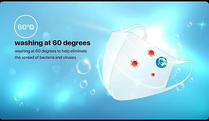 Wash mask 60 degree