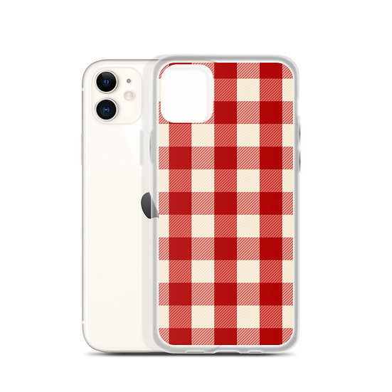 iPhone Case Red Check