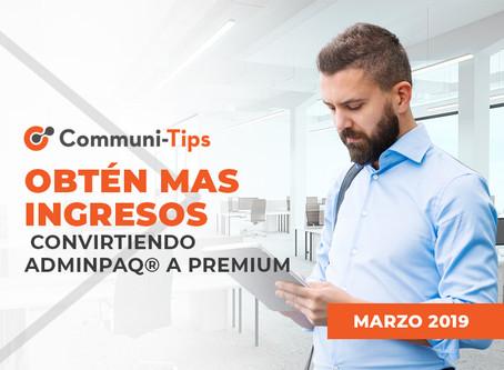 Obtén más ingresos convirtiendo ADMINPAQ® a CONTPAQi® Comercial Premium.