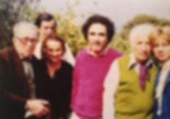 Les amis de Mansouroff : Paul Mansouroff, Colette et Gilles de Millo, Lucien Tessarolo et André Verdet