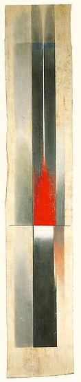 Formule picturale 1962 peinture sur bois 179 x 31 cm
