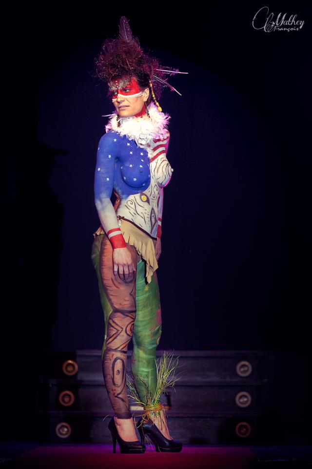Body painting indien