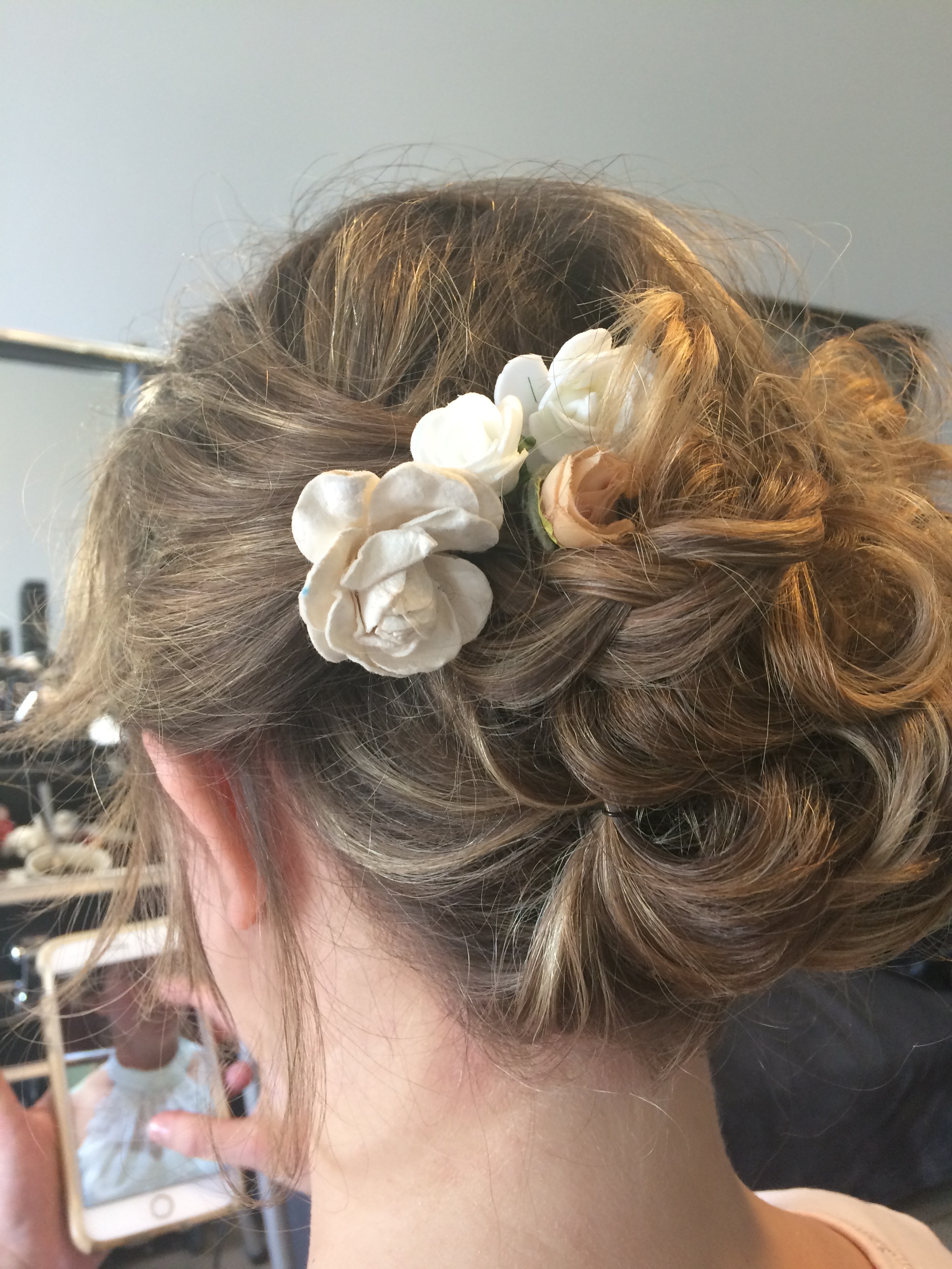 Essai coiffure chignon bohème