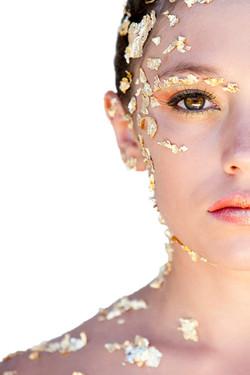 Maquillage artistique, Feuilles d'or