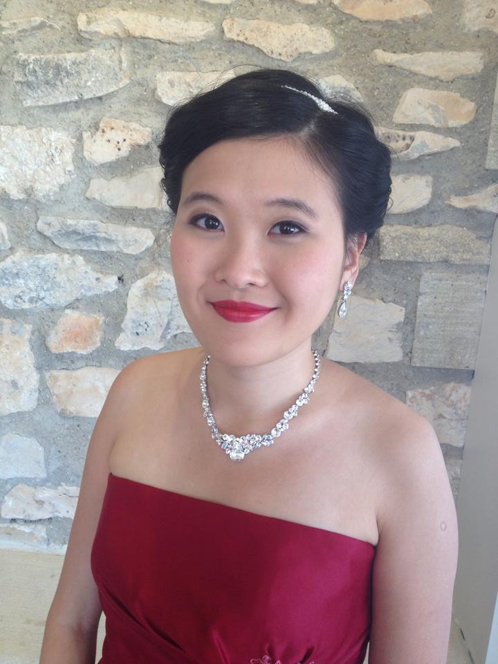 maquillage coiffure mariée chinoise