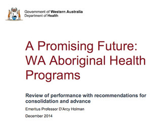 AHCWA welcomes release of report into Aboriginal health programs