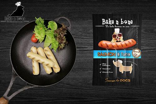 Salmon & Tuna Sausage for Dogs (ไส้กรอกปลาแซลมอน&ทูน่า)  !! 6 Free 1 คละรสได้ !!