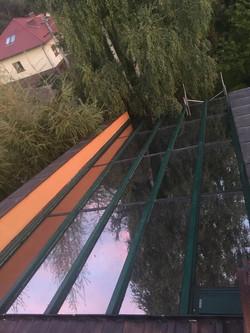 Świetlik Szklany pokryty w całości Folią
