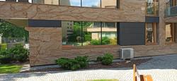 Folia Lustro Weneckie Armolan M20 XT na fasadzie budynku