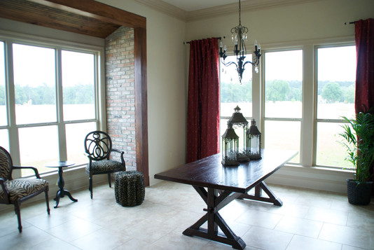 Brick and Beam and Beaded Ceiling