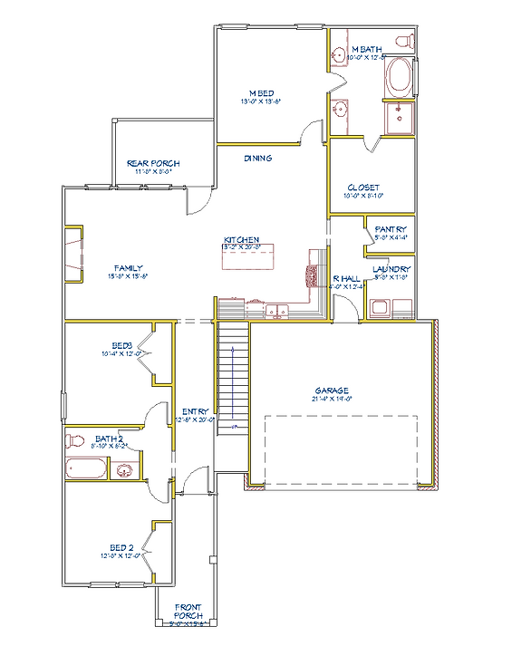 Charleston II 2 story floorplan stoop.pn
