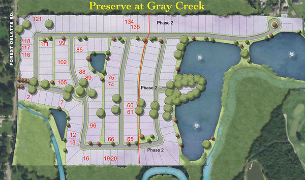 Sales map of The Preserve at Gray's Creek