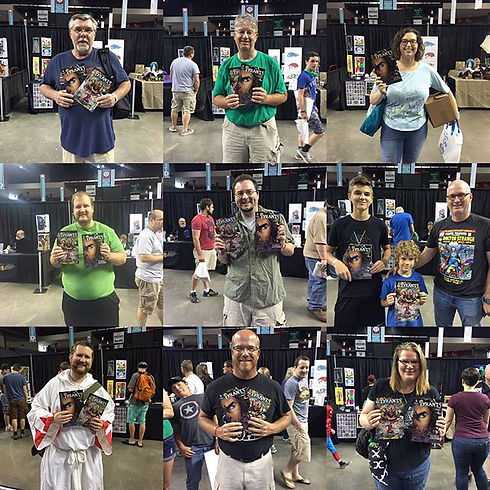 The Faces of Hollow Harbor at #ocomiccon 2017! Thanks everyone for all the kind words and great conv
