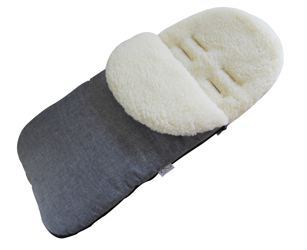 Gooseberry Wool Footmuff Grey
