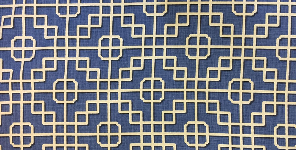 Imperial Gate - Blue & White - Chinoiserie