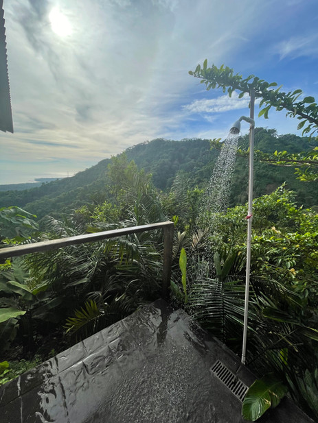 Our outdoor shower.