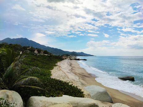 Beach in the Tayrona National Park.