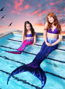 Mermaid Ginger and Birthday Girl