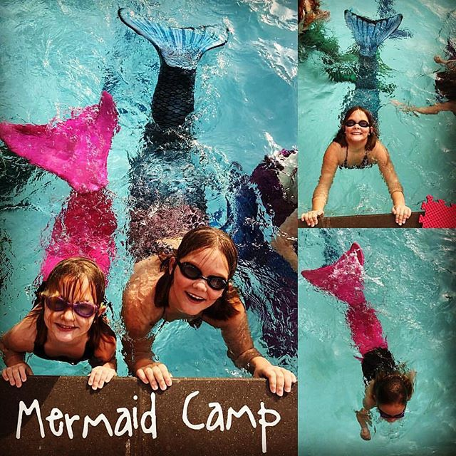 HB Mermaids is Flipping their Tails at WaterSafe Swim School and Having a Splash working on Swimming
