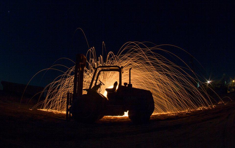 Tractor & Steel Wool