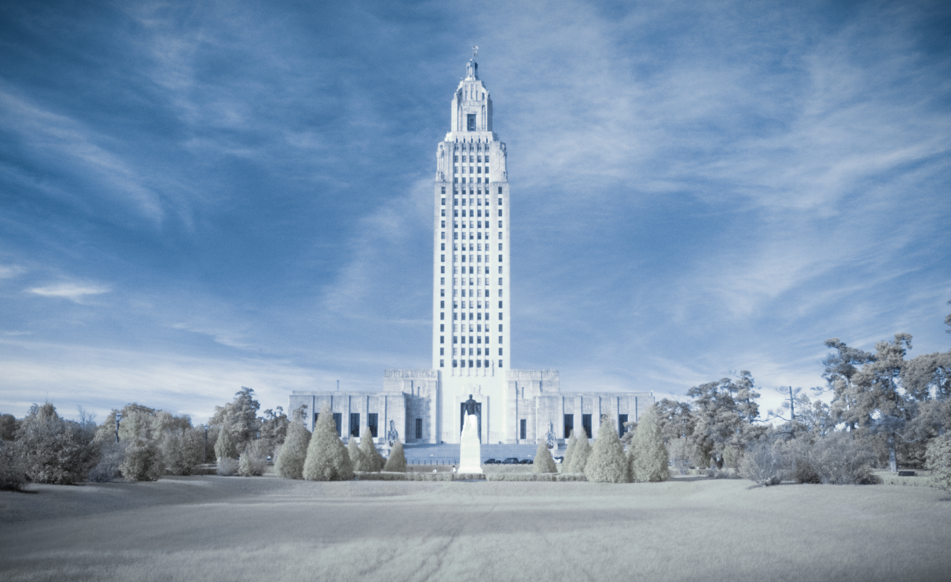 Louisiana State Capital in Infrared