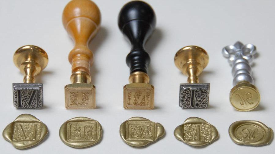 Square Wax Seals - Custom Image
