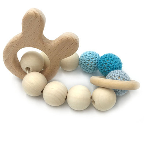 Natural Wood Teether- Bunny