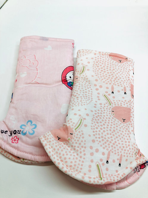 Curved Drool Pads / Teething Pads Reversible for Baby Carrier