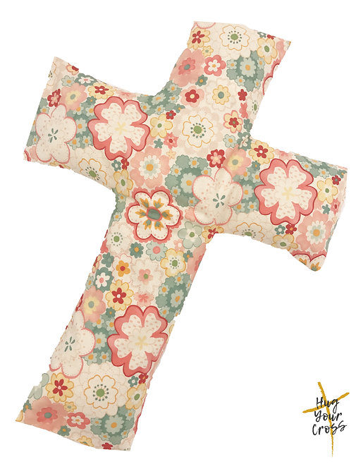 Japan Cherry Blossom- Print 2- Pink Cross Pillow