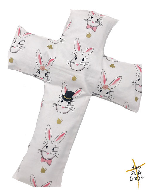 Magical Bunnies Cross Pillow