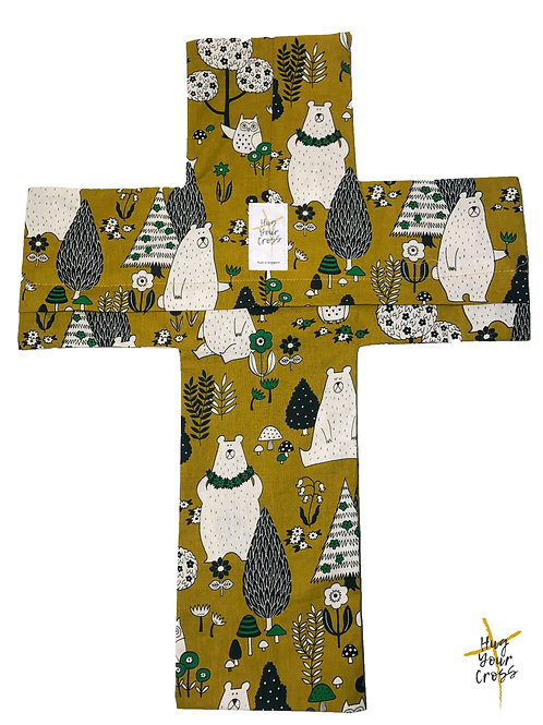 Bears Forest (Mustard) Pillow Cover