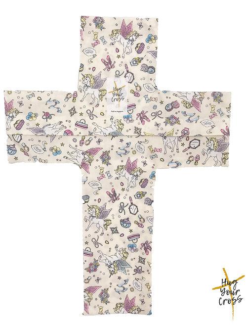 My Little Magic Fairyland Cross Pillow Cover