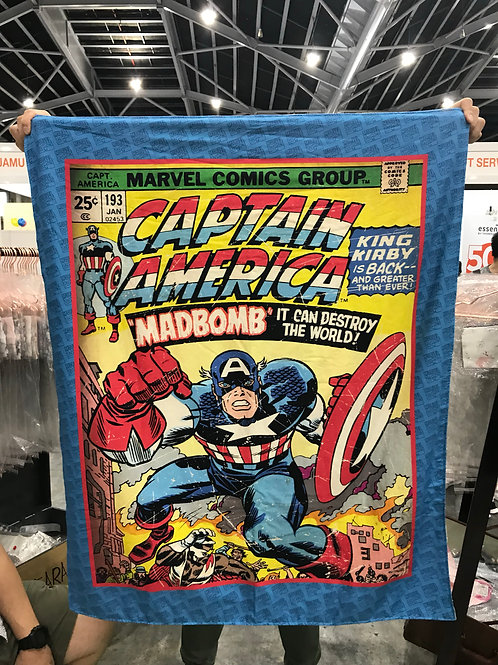 Captain America Minky Blanket