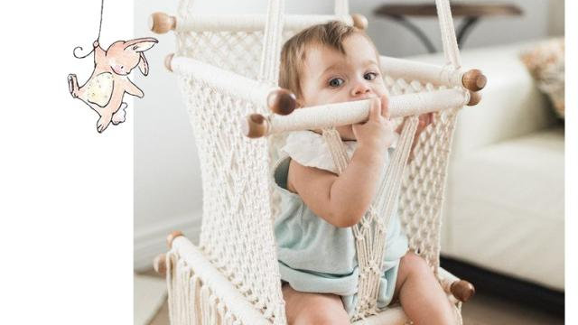 Nordic Style- Handmade Cotton Weave Infant Swing Chair