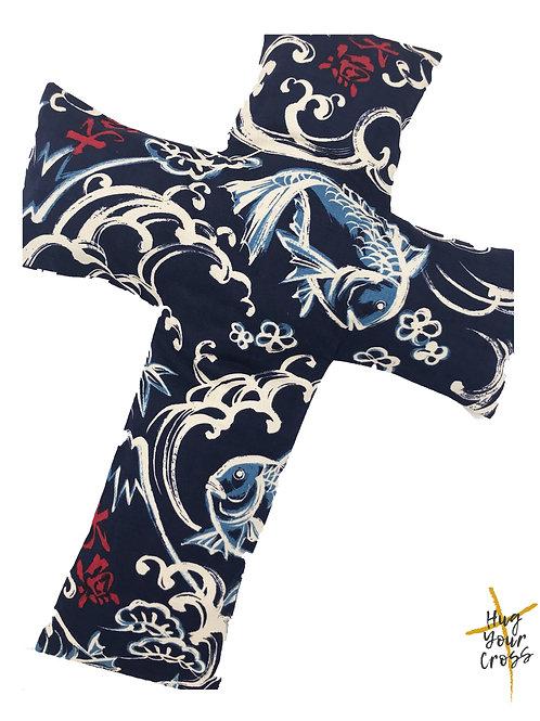 Japanese Katagami  Cross Pillow