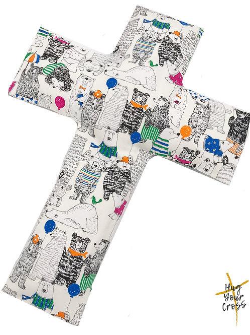 My Little Bear Party Cross Pillow
